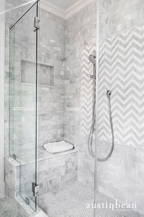 White Shower Tile Design Ideas austin bean design studio - bathrooms - shower tiles, shower