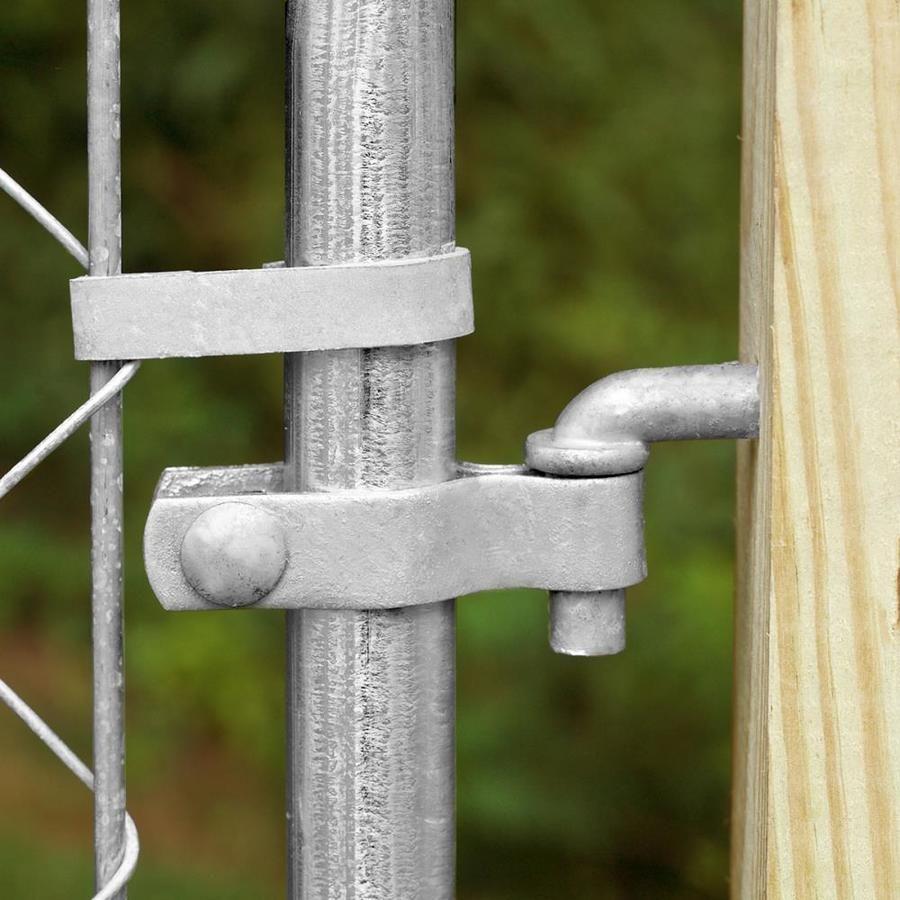 Blue Hawk Gray Metal Fence Post Hinge Chain Link Fence Lowes Com Metal Fence Posts Steel Fence Posts Steel Fence