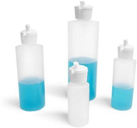 Amazon Com 8 Oz Plastic Cylinder Bottles With Flip Top Pour Spout Pack Of 12 Kitchen Dining Plastic Cylinder Bottle Cylinder