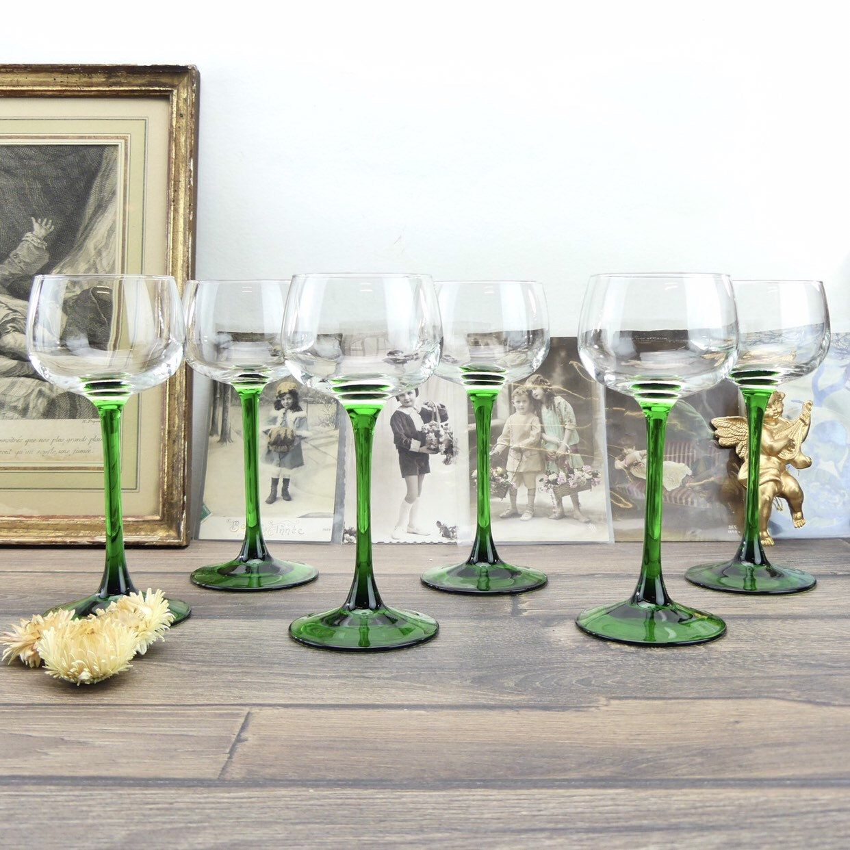 Verres A Vin Blanc Anciens Verres Verres Francais Verres Etsy Verre De Vin Verres A Vin Blanc Bistrot Francais