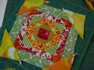 Love Laugh Quilt: Haphazard... Pineapple on telephone book pages