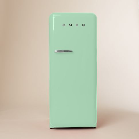 I Love The Idea Of Doing A Very Modern Kitchen With Retro Touches Like This Hot Green Little Number SMEG Refrigerator