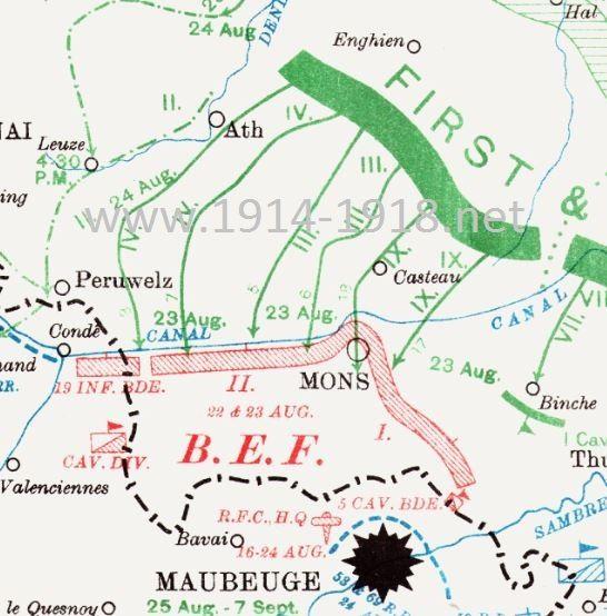 Battle of Mons 23 August 1914 World War One Pinterest 23