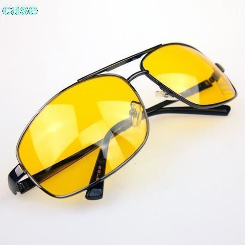 35fe40c01e4 fashion Glasses Driver HD High Definition Night Driving Vision Sunglasses  Yellow Lens