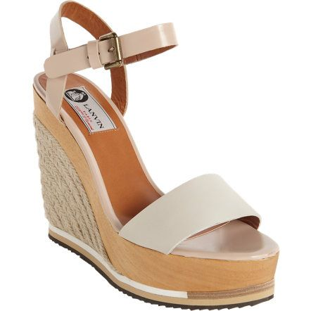 Lanvin Two-Tone Espadrille Wedge, perfect for navigating the grass, asphalt or wherever your weekend takes you, but remaining incredibly chic.