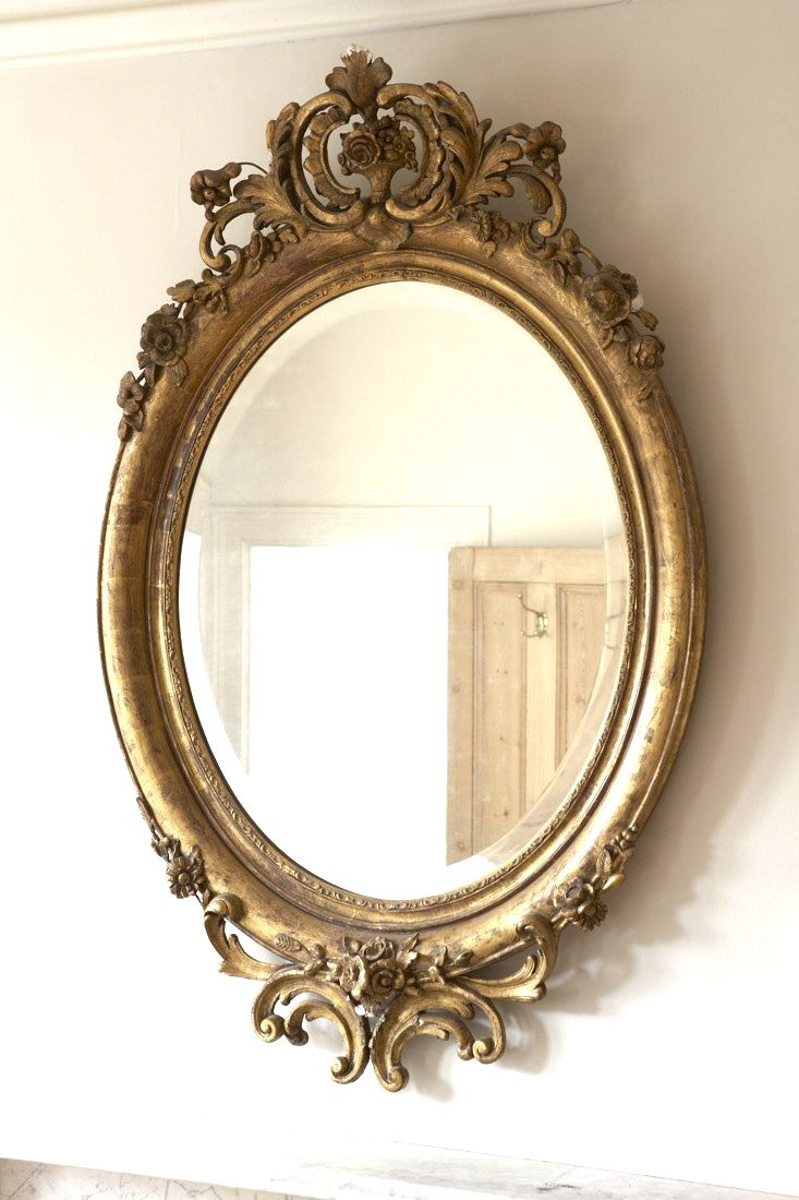 I Have A Mirror Like This It S About 75 100 Yrs Old And Heavy As All Get Out Lovely Gilding And Incredible De Victorian Mirror Vintage Mirrors Ornate Mirror