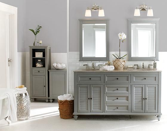 Home Decorators Grey Vanity