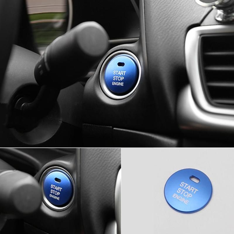 Auto Cap  Car Trim Engine Start Stop Button Cover  For Mazda 3 6 CX-3 CX-4 CX-5
