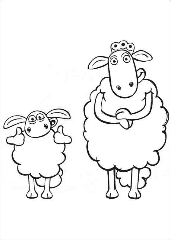 tegninger til børn f for får 9  ausmalbilder shaun das