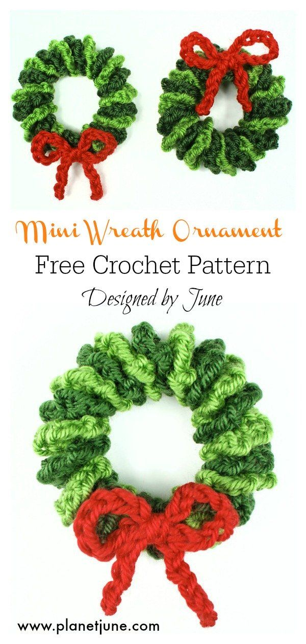 Photo of Mini Christmas Wreath Free Crochet Pattern