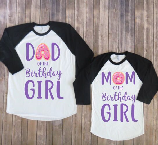 Mom and dad of the birthday girl-donut theme, donut birthday, donut party, donut matching, donut parents, mom of birthday, dad of birthday