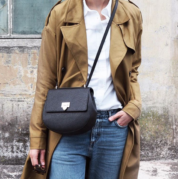 DECADENT round satchel bag worn by blogger Sara Strand | IN ACTION ...