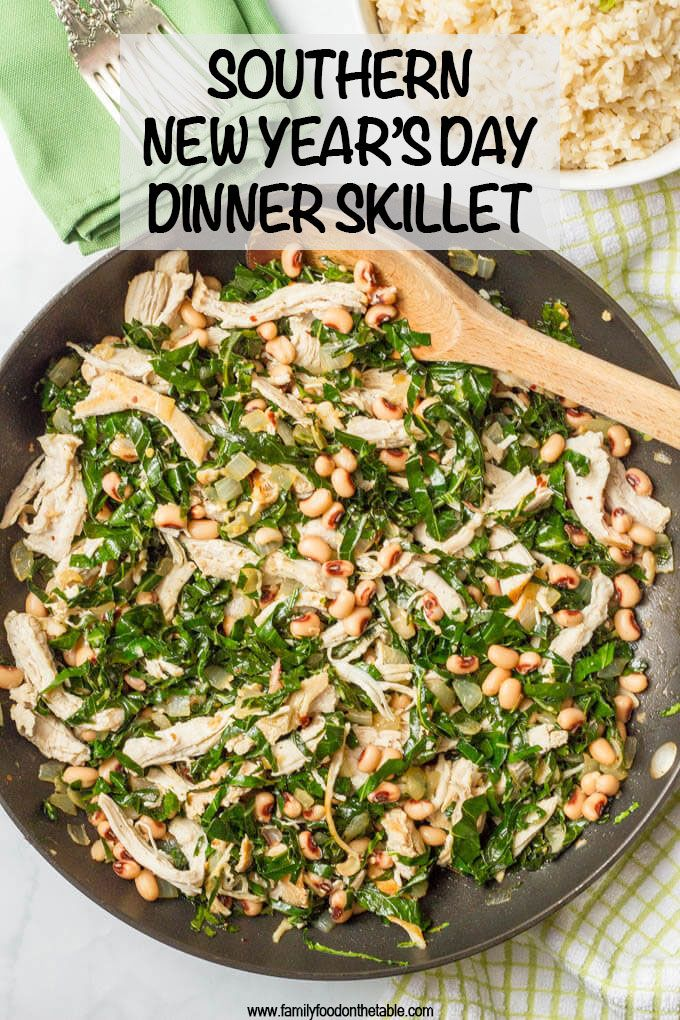 Southern New Year's Day dinner skillet Recipe Dinner