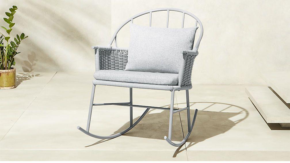 Cheap Grey Rocking Chair