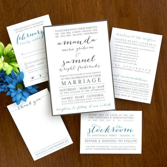 Posh Wedding Invitation Set Trendy by TheAmericanWedding on Etsy