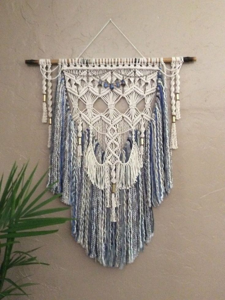 large colored macrame wall hanging colored yarn wall on macrame wall hanging id=42303