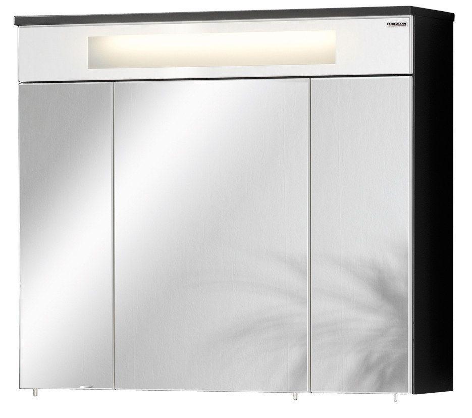 Fackelmann Kara - Spiegelschrank 80 weiß / anthrazit Jetzt bestellen ...