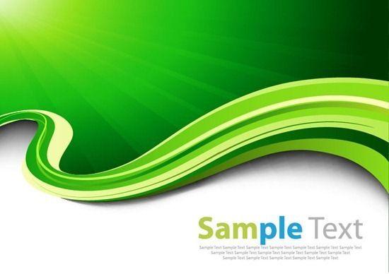 Abtsract Green Waves Vector Background Free Vector Graphics