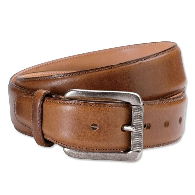 This men s handsome leather belt is made from fine Italian leather. 2c4f902434