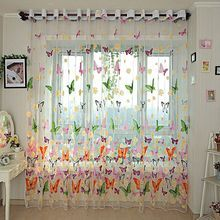 Butterfly Printed Sheer Curtain 270cmx100cm