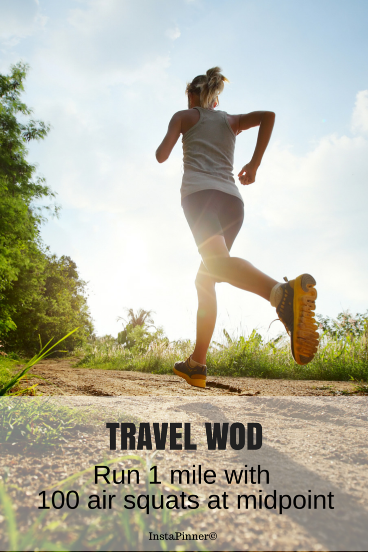 Travel WODS - Do not forget to do some crossfit WODs while traveling! ♥ If you like the value of my pin, click ★LIKE, ★FOLLOW and ★REPIN to your own #Crossfit #WOD board. ❤ #travel