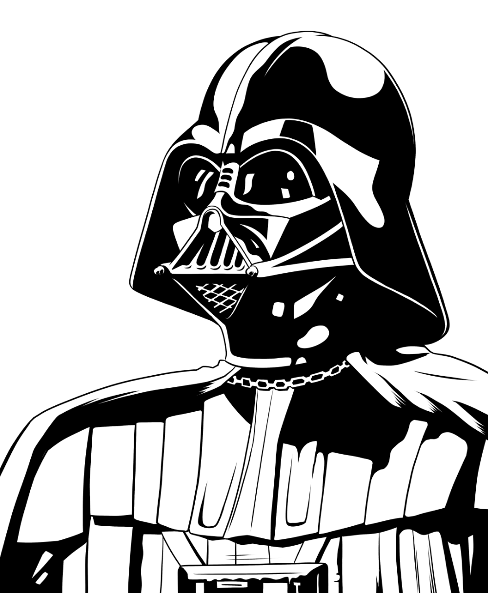 Darth Vader Outline : darth, vader, outline, Darth, Vader, Comic, Outline, Penelusuran, Google, Feutres, Alcool,, Dessin,, Alcool