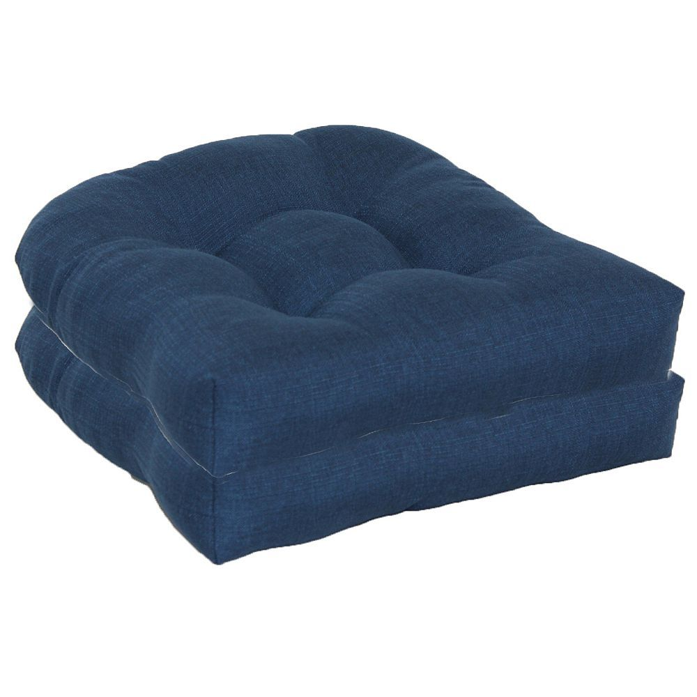 SONOMA Goods for Life™ 2-piece Indoor Outdoor Reversible ''u'' Chair Cushion Set, Blue
