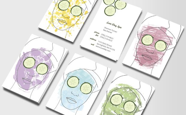 Painted Faces Business Cards Spa Business Cards Beauty Business Cards Business Card Design