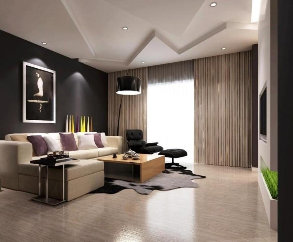 Black Gypsum Board : Black floor lamp with chic gypsum board ceiling ideas for