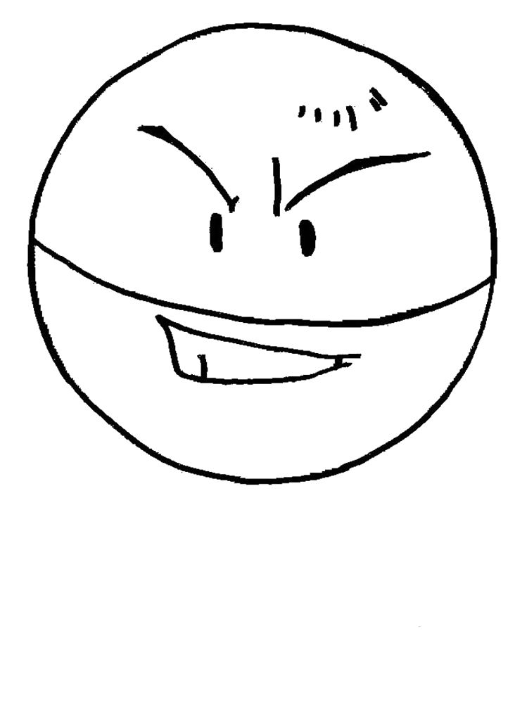 Pokemon Ball Electrode Coloring Pages Kids Pinterest