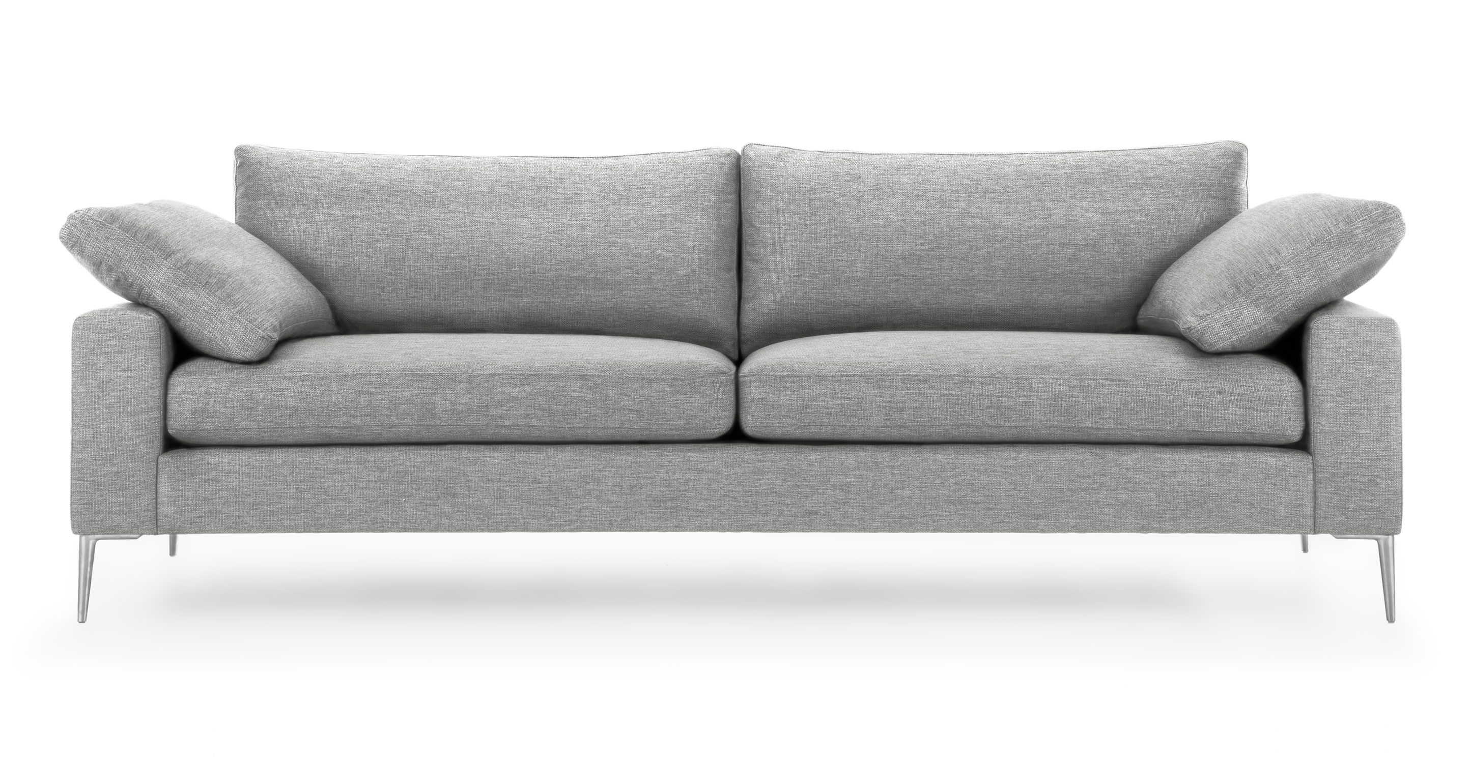 Nova Winter Gray Sofa Scandinavian Furniture Comfortable Sofa Mid Century Modern Sofa