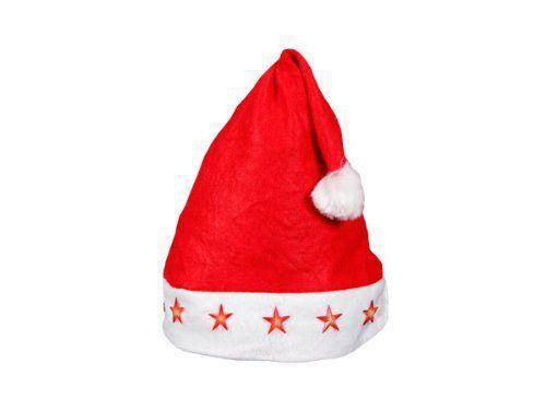 Bonnet de Noël pour enfant   Ados (wm-14) lumineux avec 4 étoiles à ... 9fc195ab925
