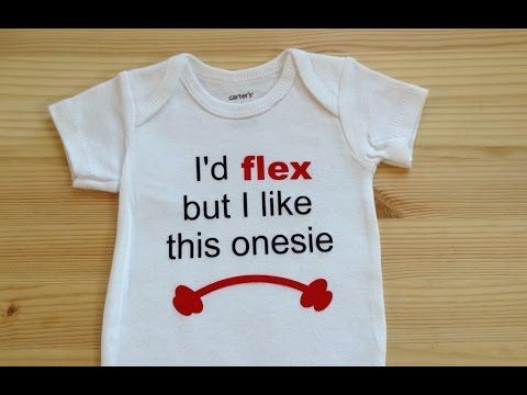 Fit Baby Onesie using your Silhouette Cameo and Heat ...