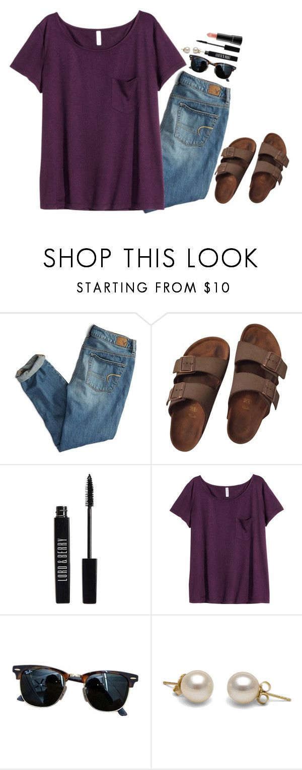 """this girl right here's gonna rule the world"" by preppy-classy ❤ liked on Polyvore featuring American Eagle Outfitters, Birkenstock, Lord & Berry, H&M, Ray-Ban and MAC Cosmetics"