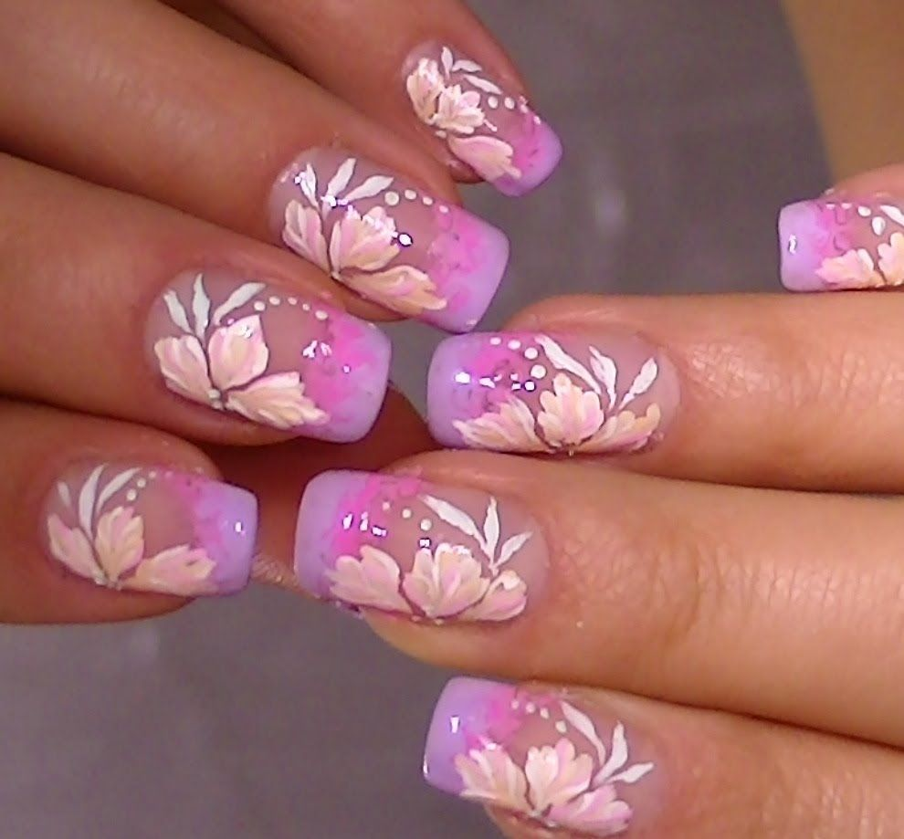 Delicate nail art,video tutorial sweet flower design | Nail Designs ...