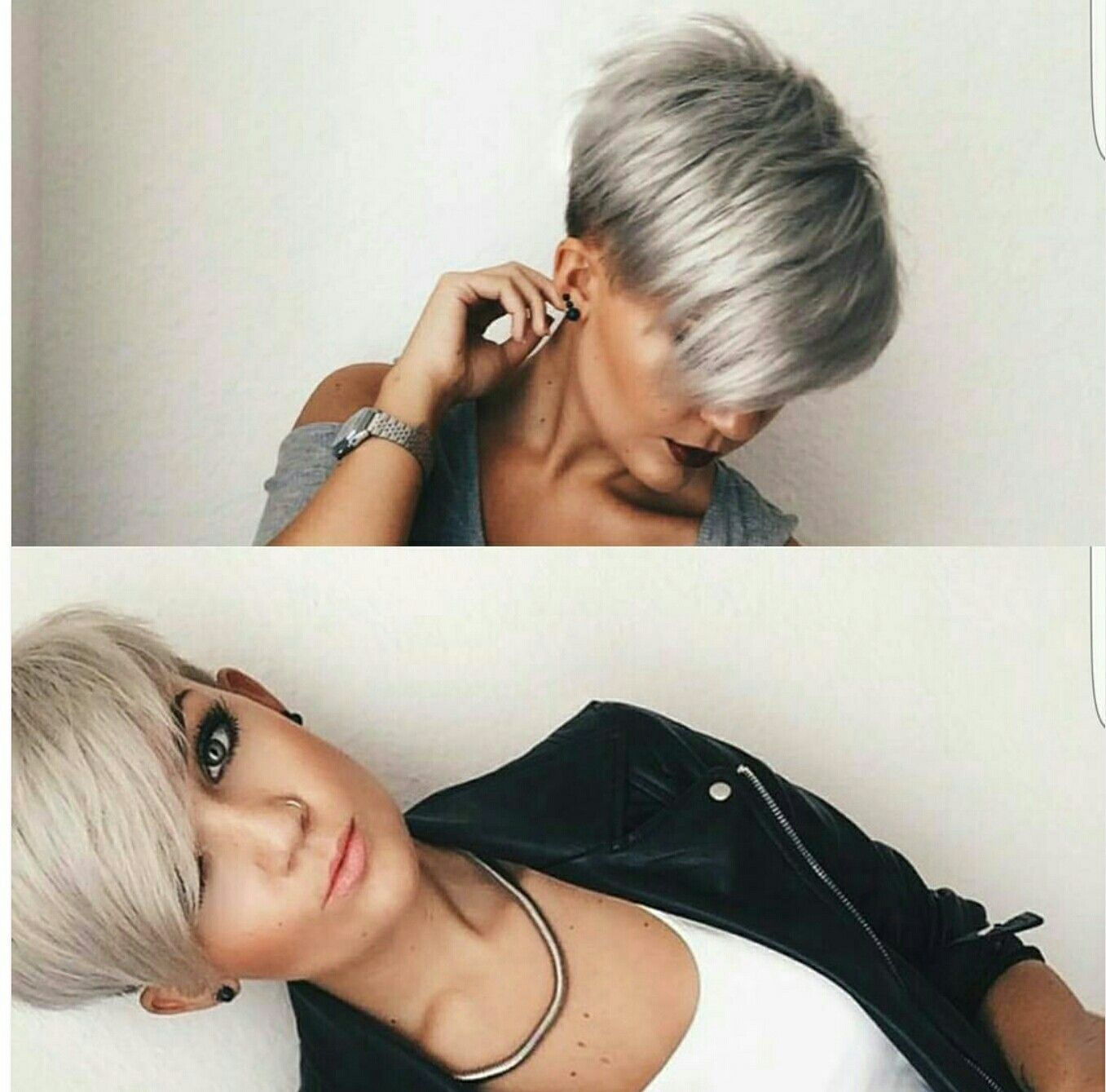 I Love The Silver Frisuren Pinterest Haircuts Hair Style And