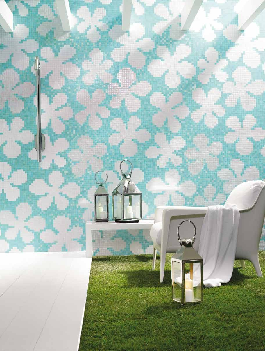 Bisazza #Decori 2x2 cm Glass Flowers Blue | #Gres | su #casaebagno ...