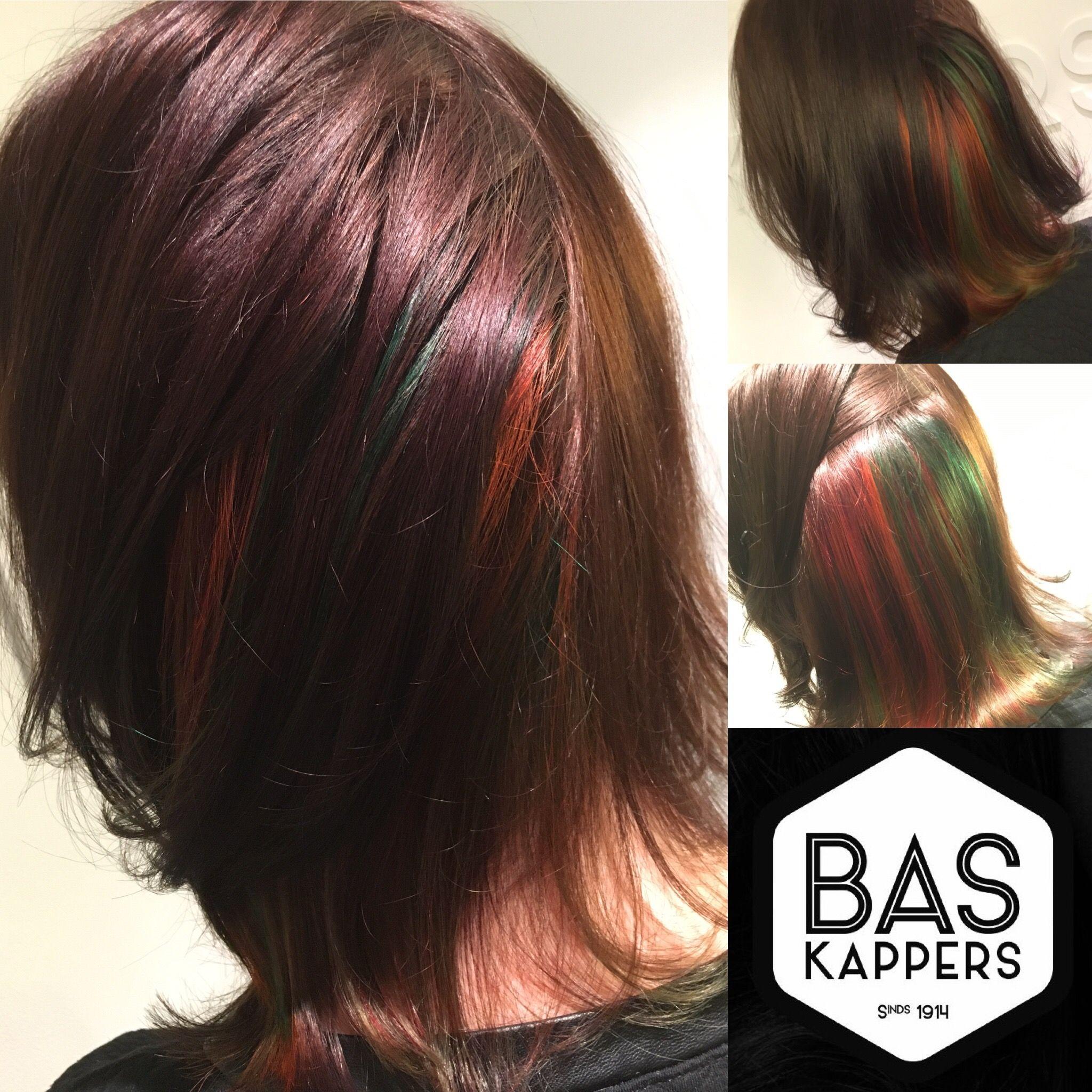 Hidden Colors Hair Pinterest