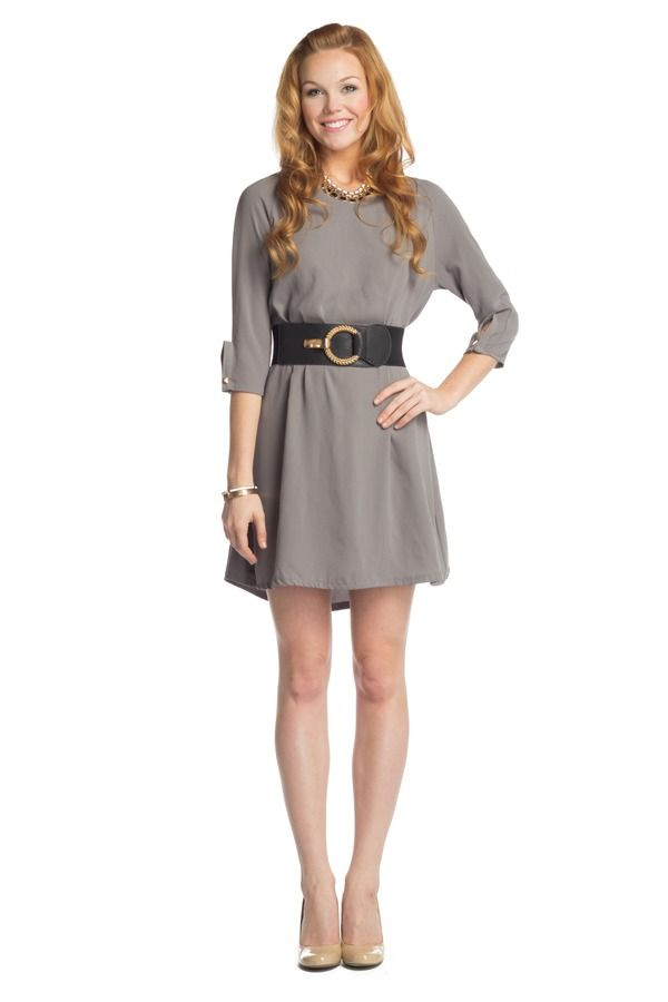 shirt dress with wide belt delaney has great ideas