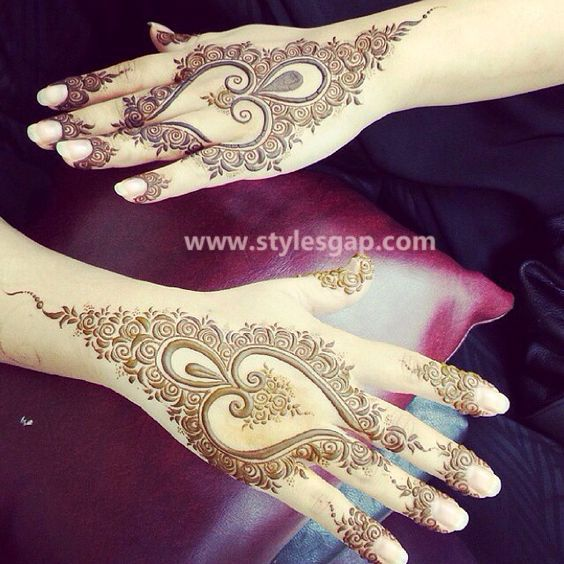 Latest Fancy Stylish Mehndi Trends Designs Collection 2016 2017