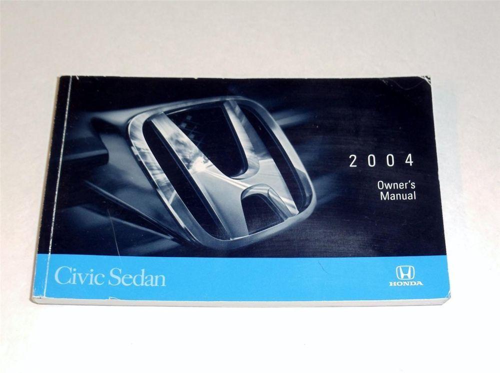 2004 Honda Civic Sedan Owners Manual Book Honda Civic Sedan Civic Sedan 2006 Honda Civic