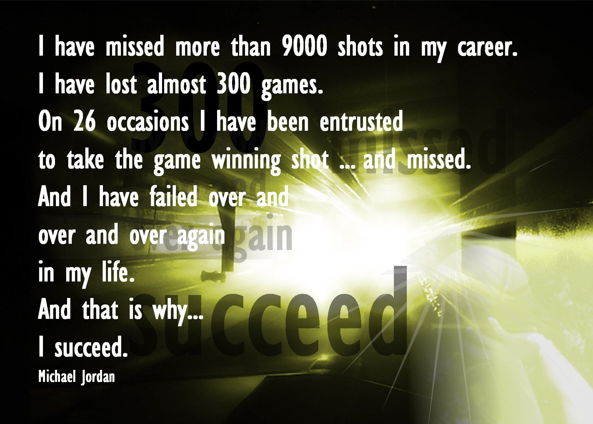 Quotes About Failure Leading To Success: Michael Jordan Failure Leads To Success Quote