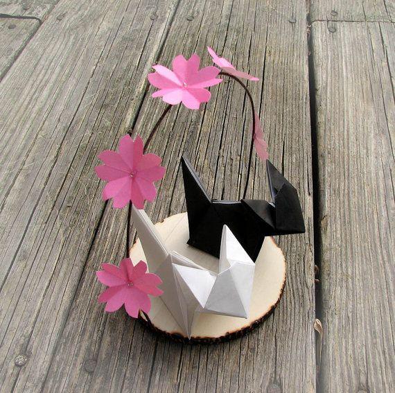 Wedding Origami Cake Topper
