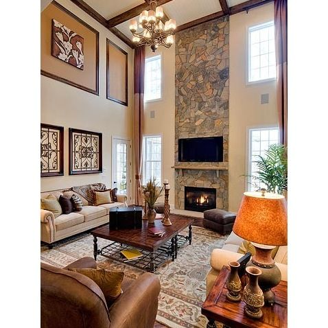 Stone Wall Living Room A Fresh Touch In Your Home Stone Wall Living Room Family Room Decorating Family Entertainment Room