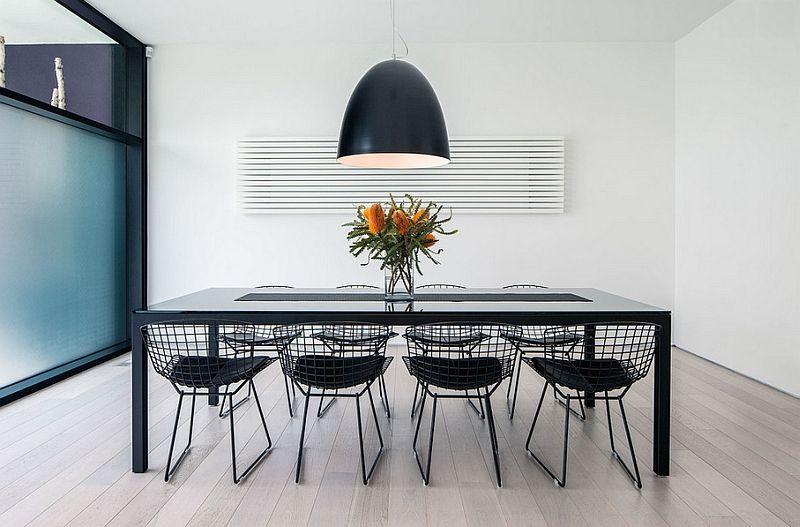 Oversized pendants shining a spotlight on the hot design trend ultra modern dining room with oversized light fixture aloadofball Choice Image