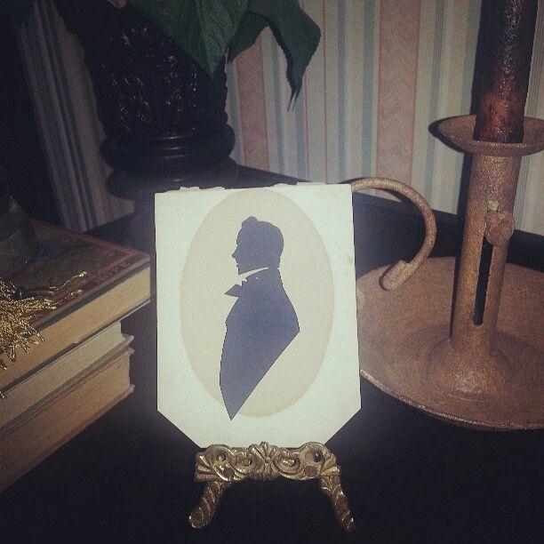 Antique silhouette deframed