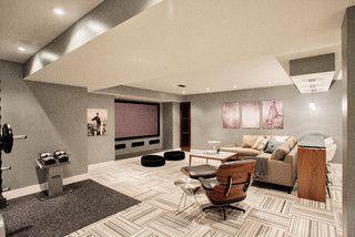 Funky Fresh Basement - contemporary - basement - toronto - by Madison Taylor