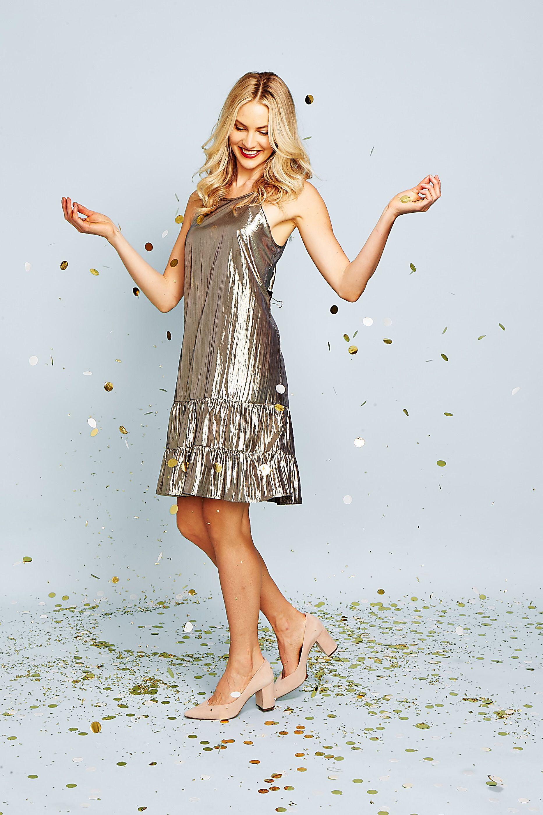 Cece Halter Neck Gold Lame Shift Dress Nordstrom Dresses Nordstrom Dresses Shift Dress [ 2798 x 1865 Pixel ]