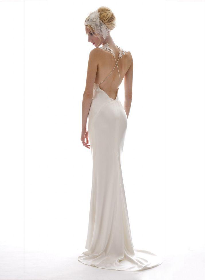 Open Back Sleek Wedding Dress From Elizabethfillmore