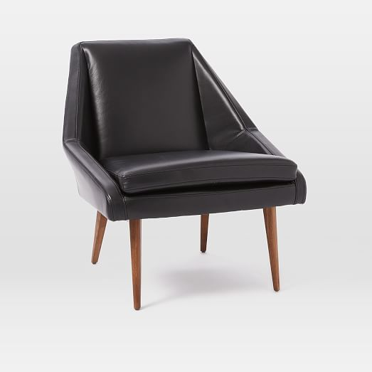 Stupendous West Elm Parker Leather Slipper Chair Living Dining Room Ibusinesslaw Wood Chair Design Ideas Ibusinesslaworg
